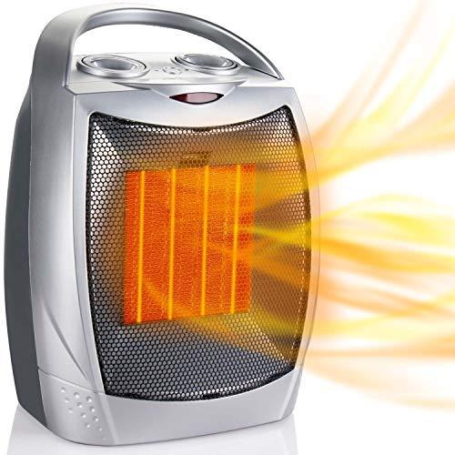 Brightown 750/1500W Mini Ceramic Fan Heater, Portable Protection