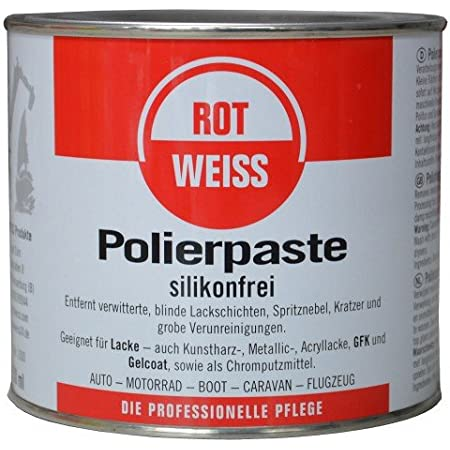 Rotweiss 750ml Polierpaste Politur Kfz Profi Auto
