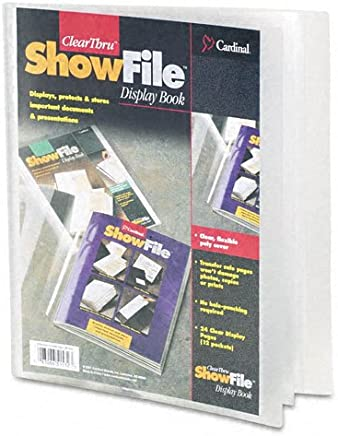 Cardinal ClearThru ShowFile, Clear, Letter Size, 12 Pockets, 1 per Box,
