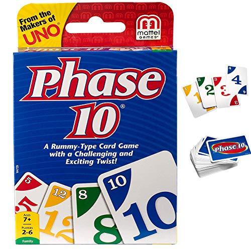 YIAI BTS UNO Cards Game Get Wild Phase 10 Skip Bo Dos UNO Flip Photo Card Set Playing Card Decks Game (Phase 10)
