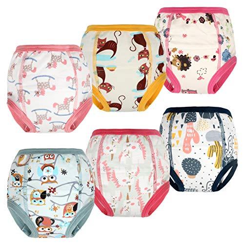 FLYISH DIRECT Packung mit 6 Kleinkind Töpfchen Trainingshose Baby Trainingshose Kinder Trainingswäsche Baby Unterwäsche Toilettentraining Unterwäsche