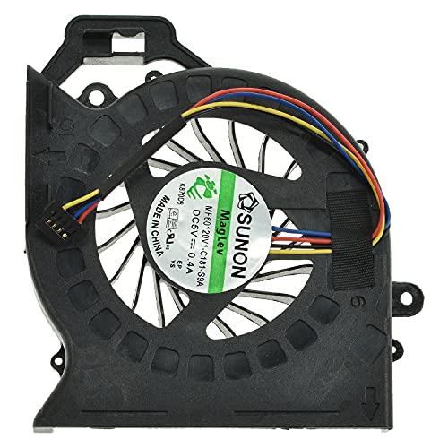 LPUK Ventilador de refrigeración de repuesto compatible con HP Pavilion dv6-6107sa, dv6-6115eg, dv6-6119sf, dv6-6129tx, dv6-6130ca