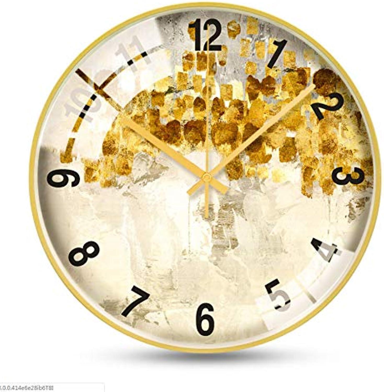 compras online de deportes Nordic Nordic Nordic Art Reloj De Parojo con Marco Dorado Local Relojes Alta Gama, Frescos, Ligeros Y Frescos, 14 Pulgadas  Esperando por ti