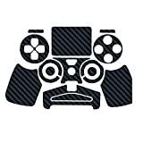 Sticker autocollant aspect carbone 3D skin pour manette PS4 Noir