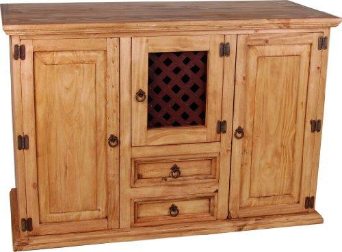 MiaMöbel Sideboard Mexico Möbel 130x88x54 cm Landhausstil Massivholz Pinie Honig