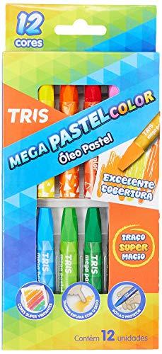 Óleo Pastel Mega Pastel Color - Conjunto C/12 Cores - Tris