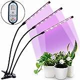 HALUM Pflanzenlampe Grow LED mit 36W Zeitfunktion Pflanzenlicht Wachstumslampe, Automatische Ein- / Ausschalten, 8 Arten von Helligkeit für Innenpflanzen Gewächshaus Blumen Gemüse