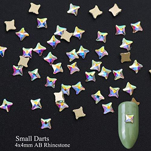 Meiyy Nageldecoratie, 10 stuks, kristal, strass, glitter, vlak, doodskop, botten, bloemen, sieraden, mode, nail art, decoratie, manicure, tips 4x4cm Small Darts