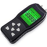 Foshio ampio display LCD manometro digitale con retroilluminazione, misuratore di pression...