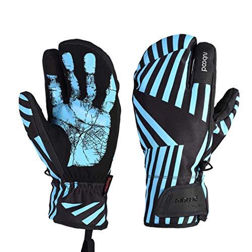 MISS&YG Skimandschuhe Wintersport Rutschfeste Männer und Frauen für Erwachsene, die warme Handschuhe reiten,Laser,S