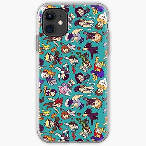 Compatible con iPhone Samsung Xiaomi Redmi Note 10 Pro/9/8/9A/Poco M3 Pro Funda Boku Bakugo All Hero Might Uraraka Deku Academia My No Cajas del Teléfono Cover