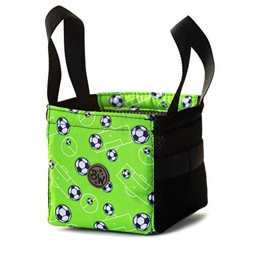BAMBINIWELT Musikbox-Tasche, Transporttasche für Hörwürfel z.B. Toniebox und Tigerbox Touch, Halterung für Tonies,KLEIN (Modell 5)