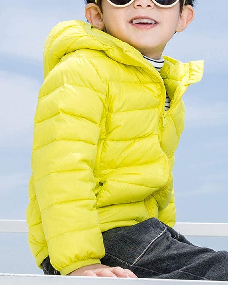 Shengwan Bambini Giubbotto Piumino Ragazzi Ragazze Invernale Caldo Giacca Cappotto con Cappuccio