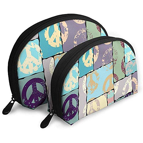 Paquet Style Paix Cosmétique Sacs Étanche Tissu Maquillage Pochette d'embrayage Cosmétique Et De Toilette Organisateur Sac Portable Trousse De Toilette