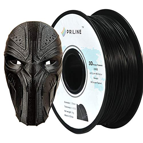 PRILINE TPU-1KG 1.75 3D Printer Filament, Dimensional Accuracy +/- 0.03 mm, 1kg Spool, 1.75 mm, Black