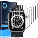 [6 Pack]LK Protector de Pantalla Compatible con Apple Watch Series 7 45MM con Series 6 SE Series 5 Series 4 44mm Protector de Pantalla, 6 Pack,TPU-Film,Alta definición,LK-X-72