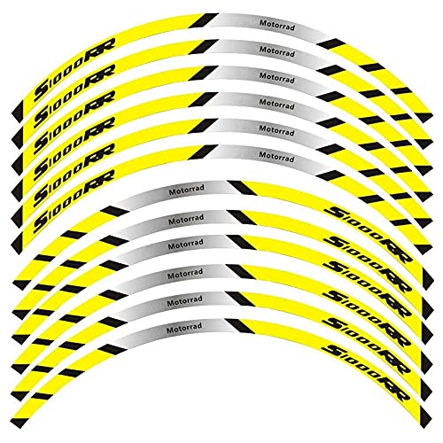 Etiquetas engomadas decorativas de la motocicleta 12 Tiras De Calcomanías Reflectantes Para Motocicleta, Llantas, Pegatinas Para Motocicleta, Estilo De Decoración Para B-M-W S1000RR S1000 Rr