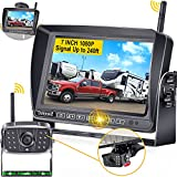 DoHonest S21 RV Backup Camera Wireless with 7'' Touch Key DVR Monitor, HD 1080P Bluetooth Backup Camera Stable Digital Signal for Furrion Pre-Wired RV Trailer Truck, IR Night Vision Rear View Camera