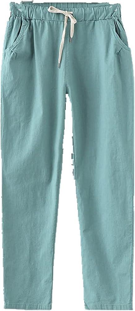 Cargo/Baggy Pants Women Summer Women's Pants Linen Sweatpants Casual Pants for