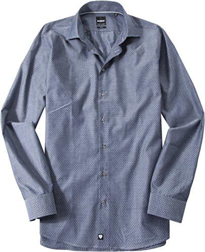 Strellson Premium Herren Slim Fit Business Hemd 1101725 - Francis, Blau (422), Kragenweite: 42 (Herstellergröße: 42)