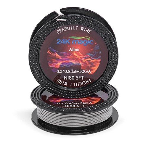 Ni 80 Bobina de bobina de bricolaje cables 6 tipos de calibre AWG para Diy Vape usuarios-6ft bobina (0.3 *...