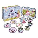 Lucy Locket – Juego de té metálico de Princesas para niños –...