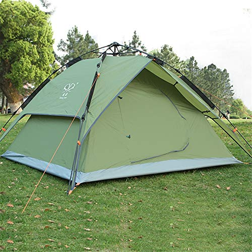 Camping Tent Easy Pop Up Automatic Setup Instant Family Tents for Camping Hiking Traveling Portable Waterproof Tent (Color : Green, Size : One Size)