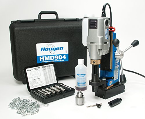 Hougen HMD904S 115-Volt Swivel Base Magnetic Drill w/coolant bottle plus 1/2' drill chuck, adapter...