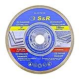 Disco diamantado 180 x 25,4 x 7 mm (1,6 mm extra fino) para Azuleos Cerámica Baldosas Granito y mármol. Disco profesional ultrafino para amoladoras de tabla