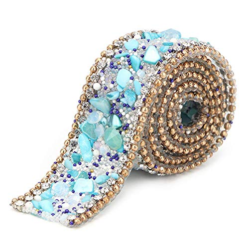 Rollo de cinta de diamantes de imitación de 2 cm de ancho...