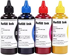 Dye Sublimation Ink Heat Transfor Ink Inkjet Printers Refillable Ink Cartridge ciss for C68 C88 C88+ WF-7710 WF-7720 WF-7620 WF-7610 WF-7210 WF-3630 WF-3620 WF-3640 WF-2750 WF-7110 (4 Colours)