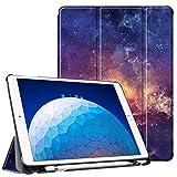 FINTIE Funda para iPad Air 10.5' (3.ª Gen) 2019/iPad Pro 10.5' 2017 con Soporte Incorporado para Pencil - Súper Ligera Carcasa Protectora con Función de Auto-Reposo/Activación, Galaxia