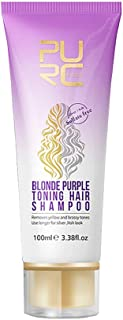 Minkissy Purple Shampoo Color Depositing Shampoo Concentrate for Revitalize Blonde Bleached Highlighted Hair 100ml