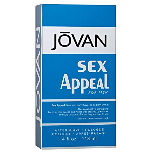 Jovan After Shave Cologne, Sex Appeal, 4 Fluid Ounce
