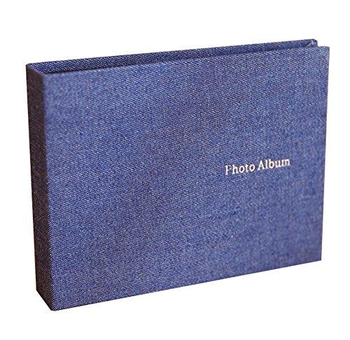 Insho Fotoalbum für Instax Wide 210 / Instant Wide 300 / FP 3000B / FP100C Filme, 30 Taschen, 12,7 cm, Blau