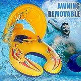 Hunpta - Piscina hinchable para bebés, piscina hinchable, sofá para cama flotante, hamaca hinchable, sofá para piscina, asiento plegable para piscina para interior y exterior, amarillo