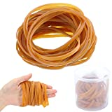 KINDPMA 60 Pieces Rubber Bands 4 Inch Heavy Duty Rubber Bands Latex Thick Elastic with Storage Box for School Home Office Supplies File Folders