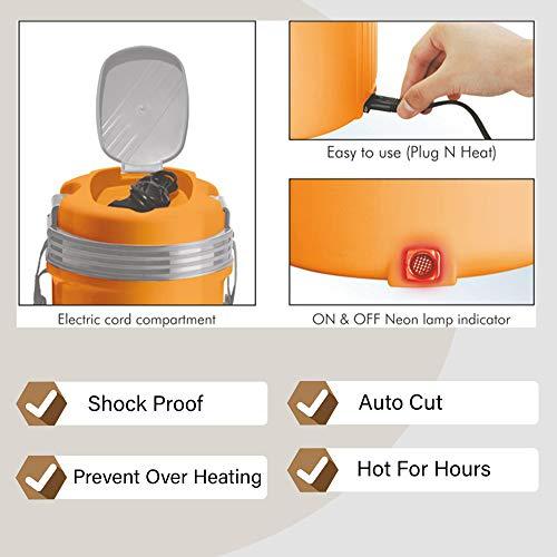 Milton Electron Stainless Steel Tiffin Box Set, 360ml/158mm, Set of 3, Orange