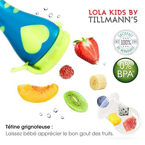 Lola Kids Tetine Grignoteuse Bebe/ 2 Grignoteuses + 6 Tetines fruit Evolutives / En...
