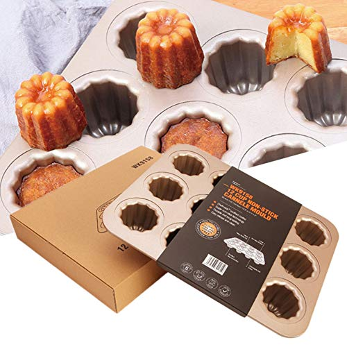 QINGLOU Cups Carbon Steel Nonstick Cake Baking Mold,Cupcake Cookie Sheet Pan Style For Baking With 12 Cups Cupcake Baking Tray means