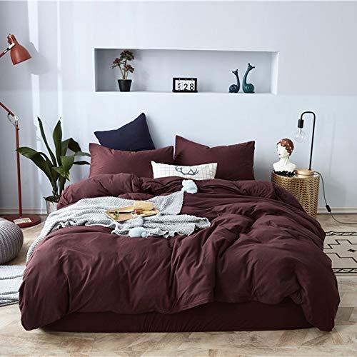 yaonuli Scorpio Cotton Four-Piece Cotton Sheets Quilt Striped Bed Simple Knit Cotton Long Staple Cotton