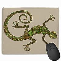 トカゲマウスパッド滑り止めラバーゲーミングマウスパッドコンピューター用ラップトップ30x25 cm