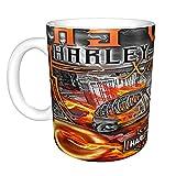 Harley Davidson Taza de regalo para abuela, regalo para el día de la madre, taza de café para el día de la madre, regalo de cumpleaños para la abuela 11 oz