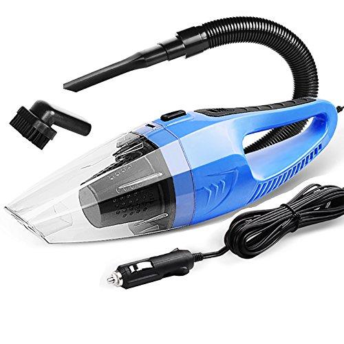 FJW Aspirateur De Voiture Portatif DC12V Utilisation De La Voiture 100W Haute Puissance Sec Et Humide Universel Aspirateur De Voiture,Blue