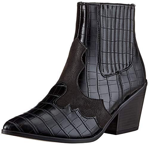 VERO MODA Damen VMFALIA Boot Stiefelette, Schwarz, 41 EU