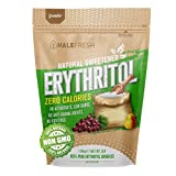 Erythritol Sweetener Non-GMO Natural Sugar Substitute 3lb - Granulated Low Calorie Sweetener High...