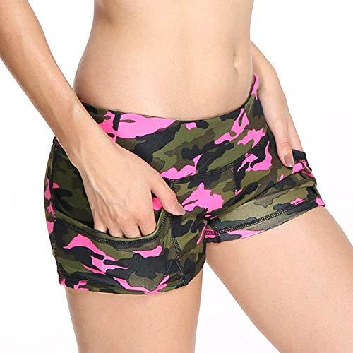 Shorts Mujer Pantalones Cortos con Estampado De Camuflaje para Mujer Pantalones Cortos Deportivos Deportivos De Verano Atléticos para Mujer