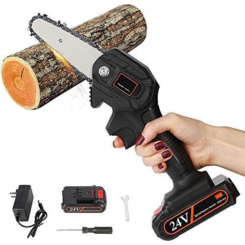 Mini Motosierra Electrica Bateria One-Hand 0.7kg Lightweight Protable Chainsaw with Brushless Motor for Tree Branch Wood Cutting poda de árboles y jardín