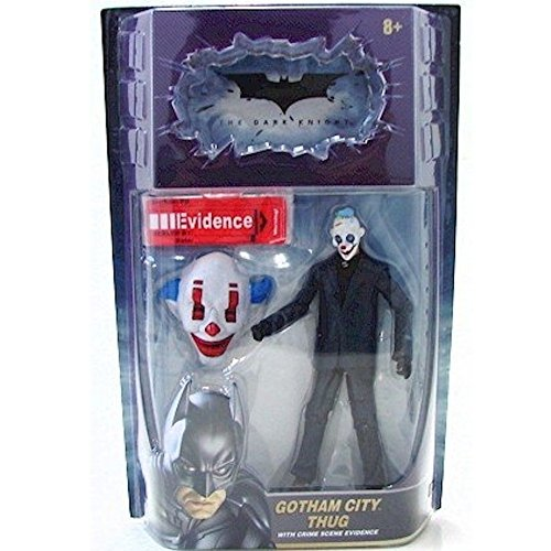 The Dark Knight Movie, Movie Masters, Gotham City Thug [Happy Mask] Action Figure, 6 Inches