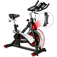 ✅Solid Build - The AV type frame, 35lbs chromed flywheel, 50mm thickened frame tube and 280lbs max user weight give this indoor cycling bike a rock solid build. 4 horizontal adjustment knobs under the front and rear stabilizer to keep the bike stable...